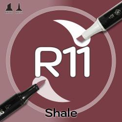 Маркер Sketchmarker BRUSH R11 Shale (Сланец) Два пера: кисть и долото. На спиртовой основе