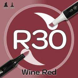 Маркер Sketchmarker BRUSH R30 Wine Red (Красное вино) Два пера: кисть и долото. На спиртовой основе
