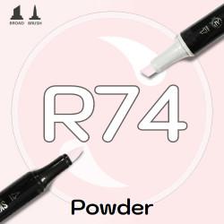 Маркер Sketchmarker BRUSH R74 Powder (Пудра) Два пера: кисть и долото. На спиртовой основе