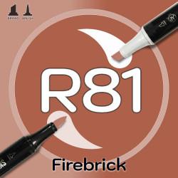 Маркер Sketchmarker BRUSH R81 Firebrick (Кирпич) Два пера: кисть и долото. На спиртовой основе