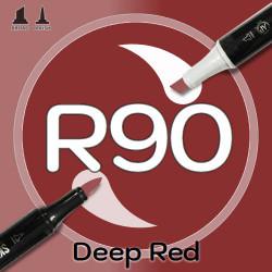 Маркер Sketchmarker BRUSH R90 Deep Red (Глубокий красный) Два пера: кисть и долото. На спиртовой основе