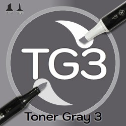 Маркер Sketchmarker BRUSH TG3 Toner Gray 3 (Тонированный серый 3) Два пера: кисть и долото. На спиртовой основе