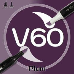 Маркер Sketchmarker BRUSH V60 Plum (Слива) Два пера: кисть и долото. На спиртовой основе