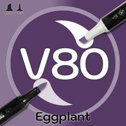 Маркер Sketchmarker BRUSH V80 Eggplant (Баклажан) Два пера: кисть и долото. На спиртовой основе