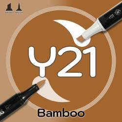 Маркер Sketchmarker BRUSH Y21 Bamboo (Бамбук) Два пера: кисть и долото. На спиртовой основе