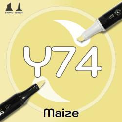 Маркер Sketchmarker BRUSH Y74 Maize (Кукуруза) Два пера: кисть и долото. На спиртовой основе