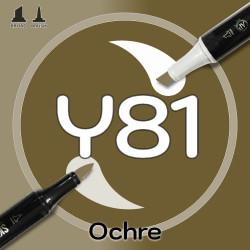 Маркер Sketchmarker BRUSH Y81 Ochre (Охра) Два пера: кисть и долото. На спиртовой основе