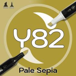 Маркер Sketchmarker BRUSH Y82 Pale Sepia (Тусклая сепия) Два пера: кисть и долото. На спиртовой основе