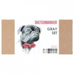 Набор SKETCHMARKER GRAY 12 SET (12 маркеров + скетчбук + лайнер+брашпен)