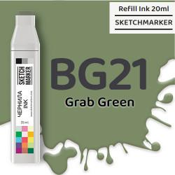 Чернила SKETCHMARKER BG21 Grab Green (Зеленый грейфер), для маркеров, 20 мл