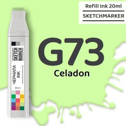 Чернила SKETCHMARKER G73 Celadon (Светлый серо-зелёный), для маркеров, 20 мл