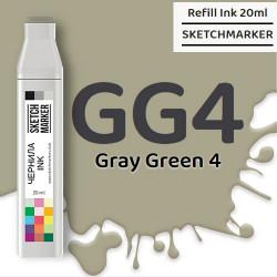 Чернила SKETCHMARKER GG4 Gray Green 4 (Серо зелёный 4), для маркеров, 20 мл