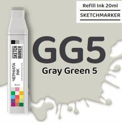 Чернила SKETCHMARKER GG5 Gray Green 5 (Серо зелёный 5), для маркеров, 20 мл
