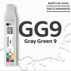Чернила SKETCHMARKER GG9 Gray Green 9 (Серо-зелёный 9), для маркеров, 20 мл