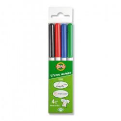 Маркеры для ткани набор 4 цвета, K-I-N 3203, толщина линии 3.0 мм
