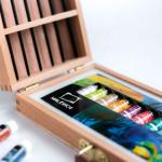 "Подарочный набор с масляными красками ""Тициан"", Малевичъ, 9 предметов"