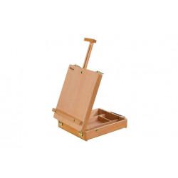 Мольберт настольный TE-04B с ящиком для кистей и красок, бук