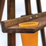 Мольберт Лира «Комфорт» со стаканчиками, коричневый