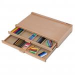 Органайзер PC-2D Pinax для пастели и карандашей, 2 лотка, бук