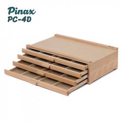 Органайзер PC-4D Pinax для пастели и карандашей, 4 лотка, бук