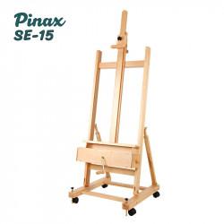 Мольберт Pinax Студия SE-15 с вращающейся рукояткой и ящиком для красок и кистей