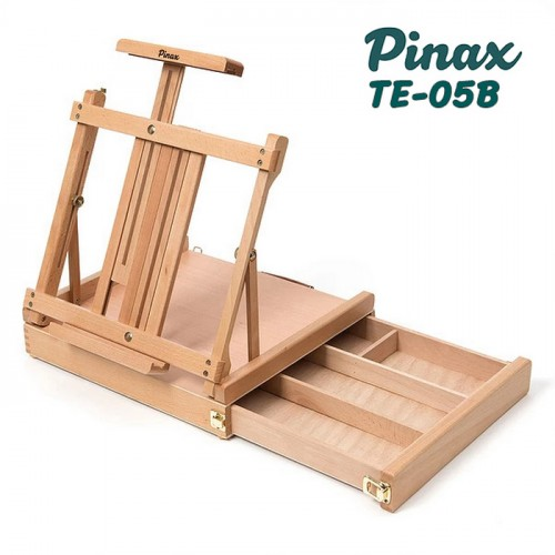 Мольберт настольный TE-05B Pinax с ящиком для кистей, бук, до 85см
