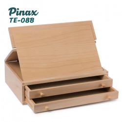 Мольберт настольный TE-08B Pinax с органайзером на 2 лотка и складным планшетом, бук, для формата A4 до 21см