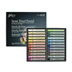 Пастель MUNGYO Gallery профессиональная сухая полутвёрдая квадратная 24 цвета в картонной коробке