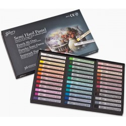 Пастель MUNGYO Gallery профессиональная сухая полутвёрдая квадратная 36 цветов в картонной коробке