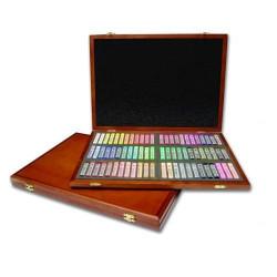 Пастель MUNGYO Gallery мягкая профессиональная квадратная 72 цвета в деревянной коробке