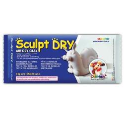 Глина для моделирования 1000 гр белая Sculpt Dry, MUNGYO