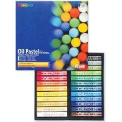 Пастель MUNGYO масляная круглая художественная 24 цвета в картонной коробке