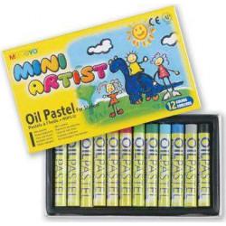 Пастель масляная MINI 12 цветов в картонной коробке
