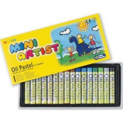 Пастель масляная MINI 16 цветов в картонной коробке