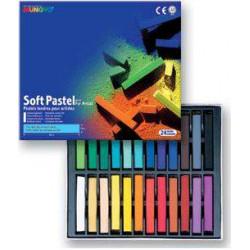 Пастель MUNGYO сухая мягкая квадратная 24 цвета в картонной коробке