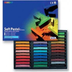 Пастель MUNGYO сухая мягкая квадратная 36 цветов в картонной коробке