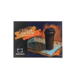 Пастель сухая художественная Малевичъ, квадратные мелки-половинки, 24 цвета