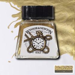 Тушь Winsor&Newton, Золотой, 14 мл