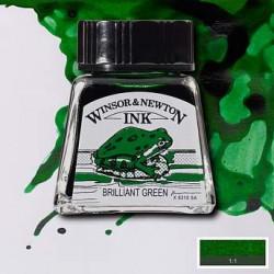 Тушь Winsor&Newton, Блестящий зеленый, 14 мл
