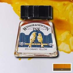 Тушь Winsor&Newton, Желтый канареечный, 14 мл