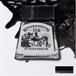 Тушь Winsor&Newton, китайская «Паук» черная водоустойчивая , 14 мл