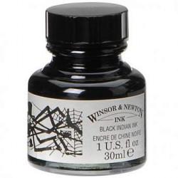 Тушь Winsor&Newton, китайская «Паук» черная водоустойчивая , 30 мл