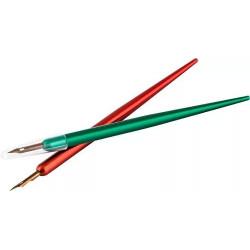 Держатель + перо для калиграфии, цвета корпуса красный/зеленый
