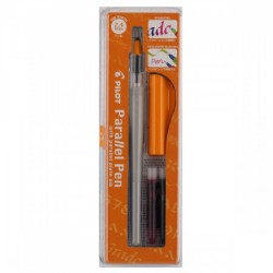"""Ручка перьевая для каллиграфии Pilot """"Parallel Pen"""", 2,4мм, 2 картриджа, пластик. уп."""