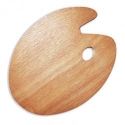 Овальная деревянная палитра 30*40 см