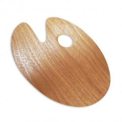 Овальная деревянная палитра 20*30 см