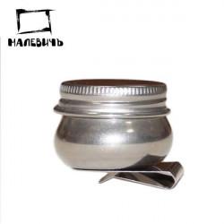 Масленка металлическая с крышкой, Малевичъ