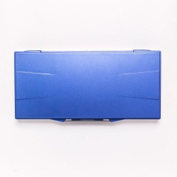 Палитра для акварели профессиональная герметичная Малевичъ, 23 ячейки, синяя, 15,8х32 см