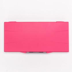 Палитра для акварели профессиональная герметичная Малевичъ, 23 ячейки, красная, 15,8х32 см