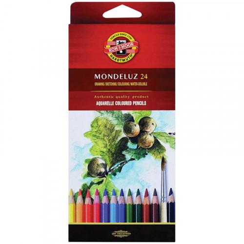 """KOH-I-NOOR 3718 (24) Набор высококачественных акварельных цветных карандашей """"Mondeluz"""", 24 цвета, в карт. коробке"""